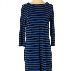 MICHEAL KORS Striped Pullover 3/4 Sleeve Dress